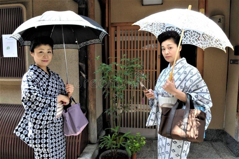 一条京都街道在日本 库存图片