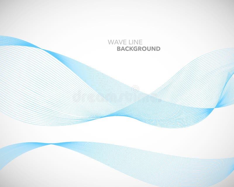一条典雅的抽象传染媒介波浪线未来派样式背景模板 皇族释放例证