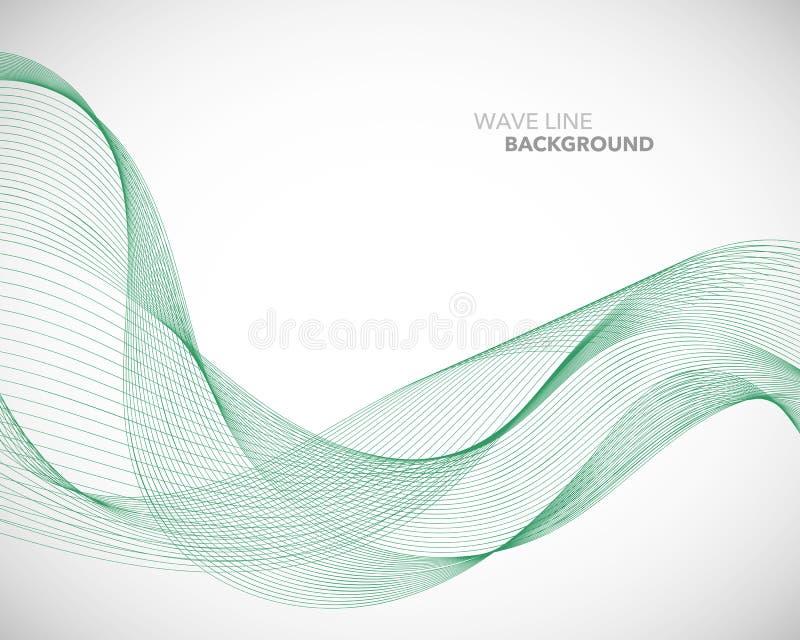 一条典雅的抽象传染媒介波浪线未来派样式背景模板 向量例证