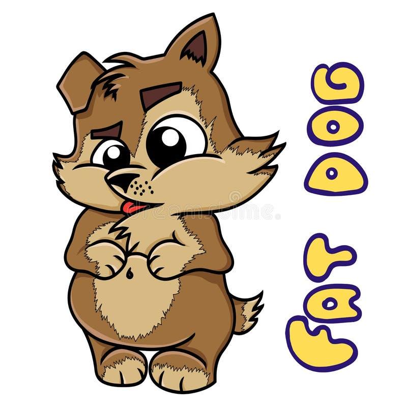 一条大,肥胖狗的动画片 皇族释放例证