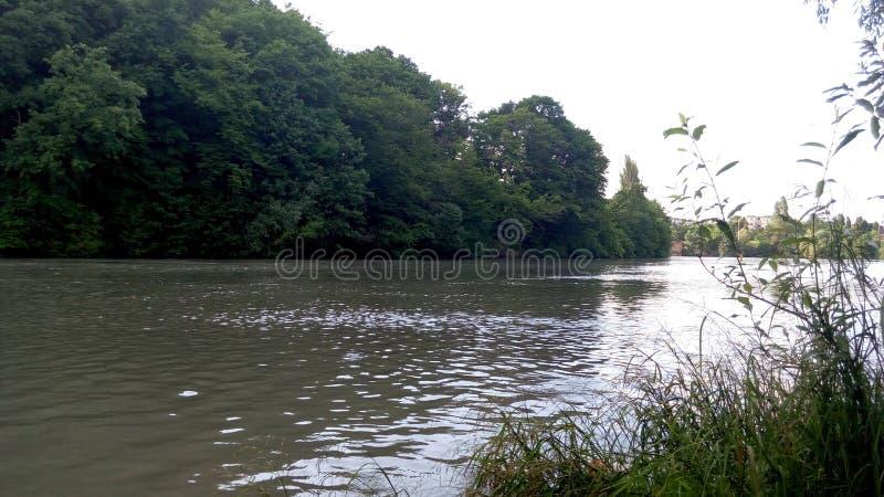 一条安静的河 免版税库存图片