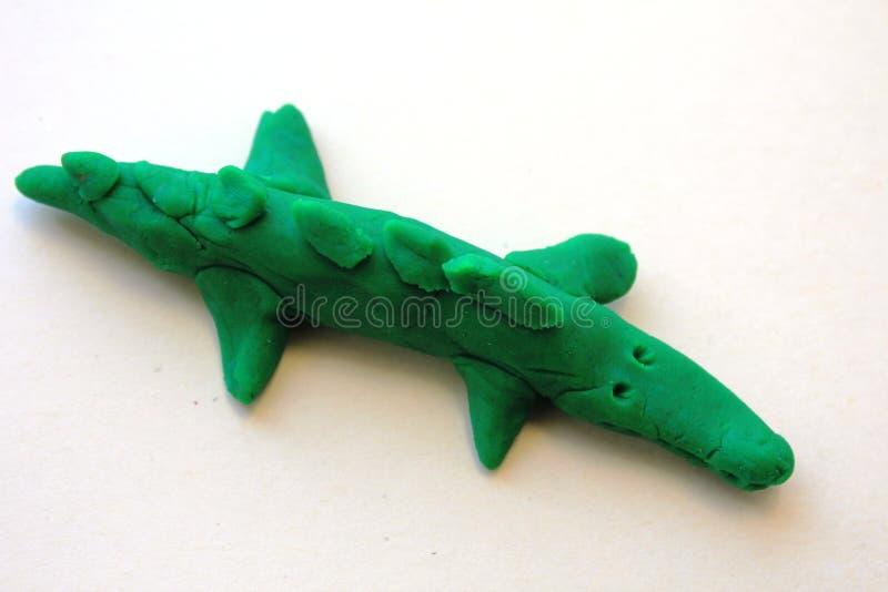 一条小的绿色鳄鱼 图库摄影