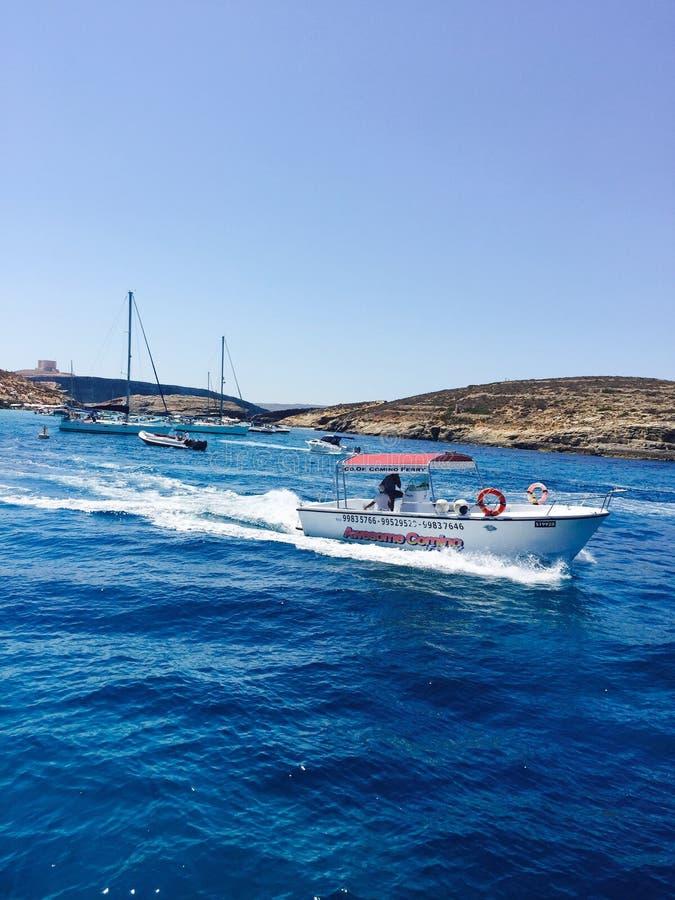 一条小船在马耳他 免版税图库摄影