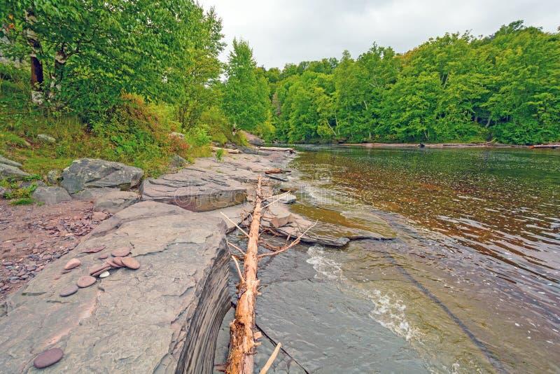 一条河的嘴在大湖 库存图片
