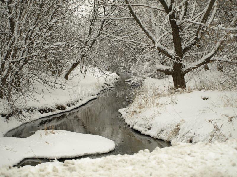 一条漫无边际的小河在苏克塞斯,WI 图库摄影