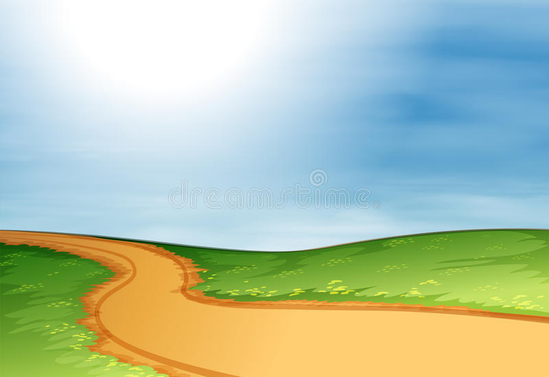 一条狭窄的路 向量例证