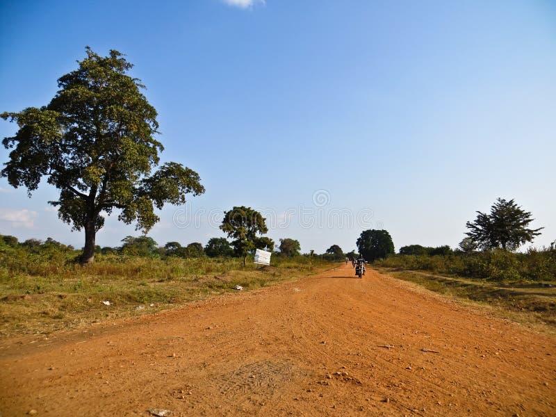 一条路在非洲 库存照片