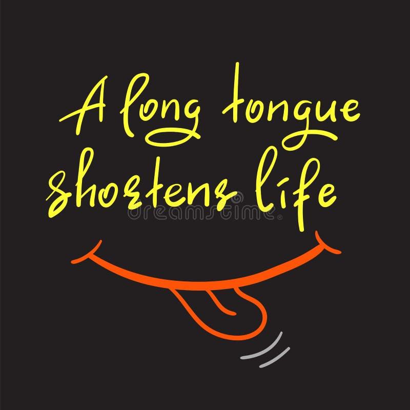 一条长舌缩短生活 向量例证