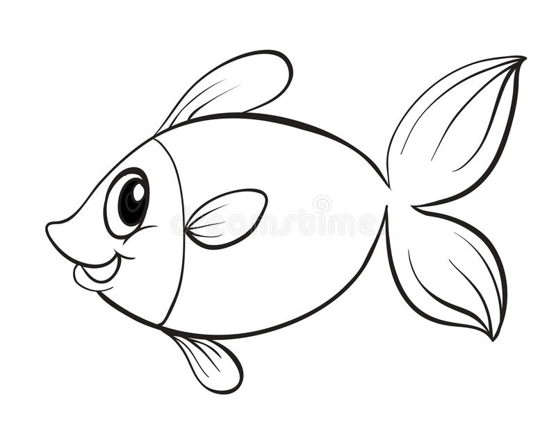 一条鱼 库存例证