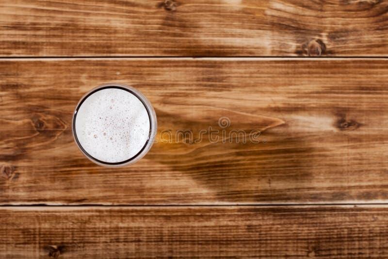 一杯储藏啤酒 库存照片