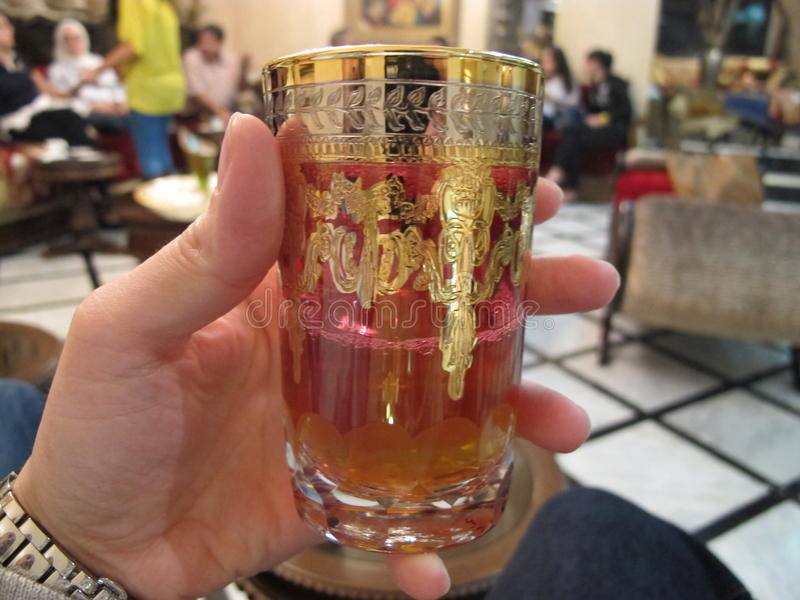一杯可口摩洛哥茶 库存照片