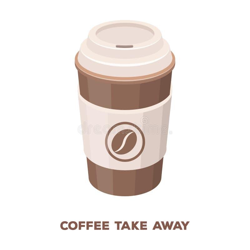 一杯咖啡对饭菜外卖点的 咖啡的不同的类型选拔在动画片样式传染媒介标志股票例证网的象 向量例证