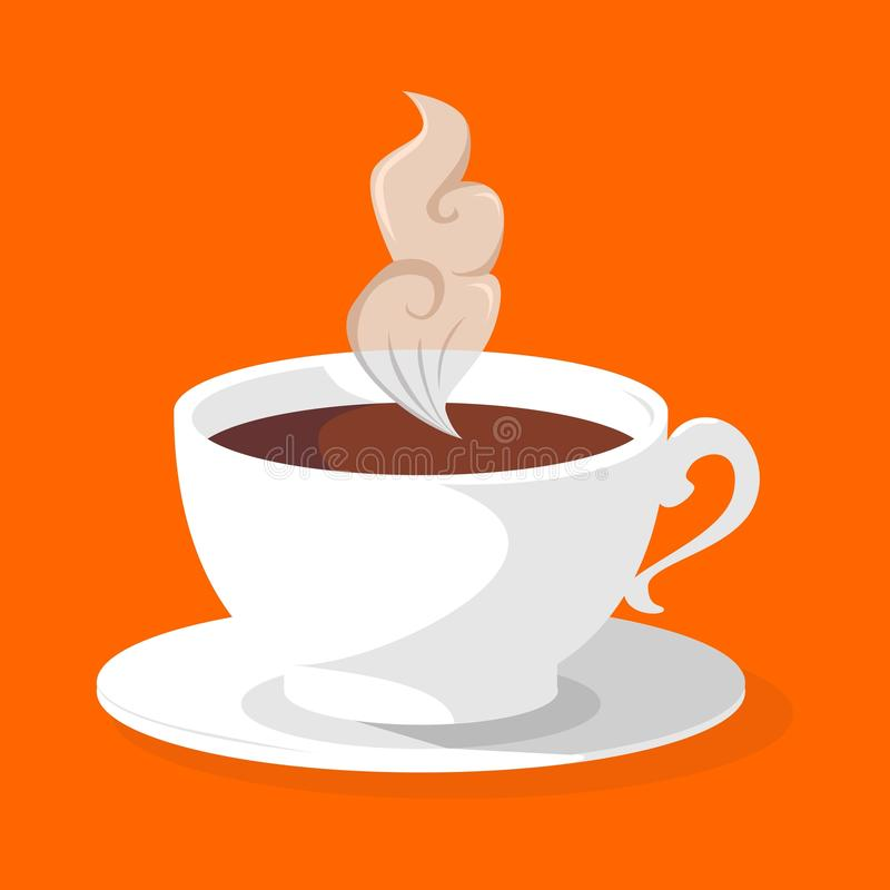 一杯咖啡 向量例证