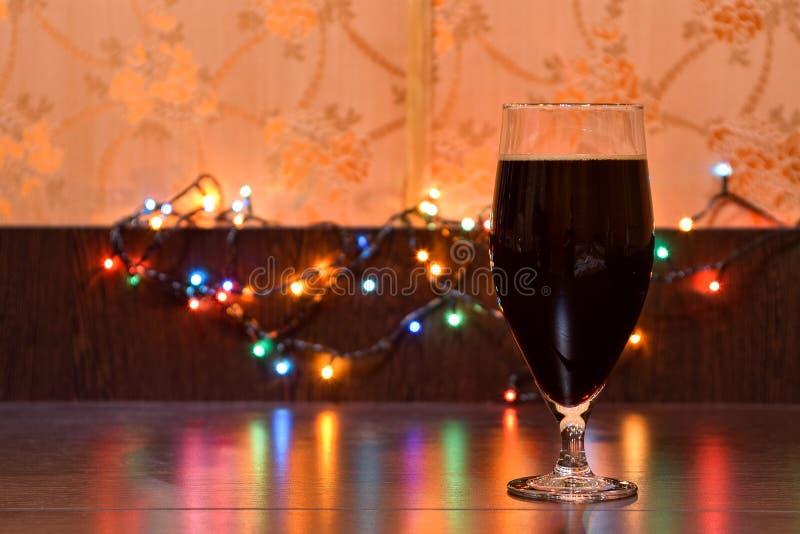 杯黑啤酒 图库摄影
