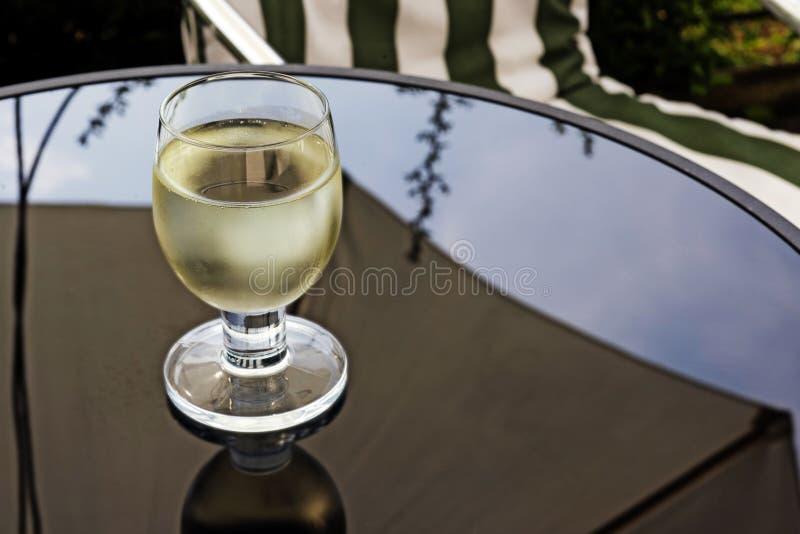 一杯白葡萄酒 库存图片