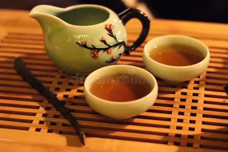 一杯茶的停留 向量例证