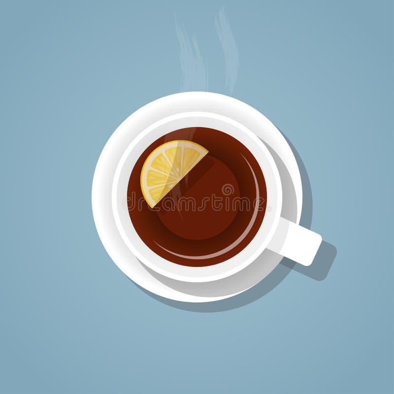 一杯茶 库存例证