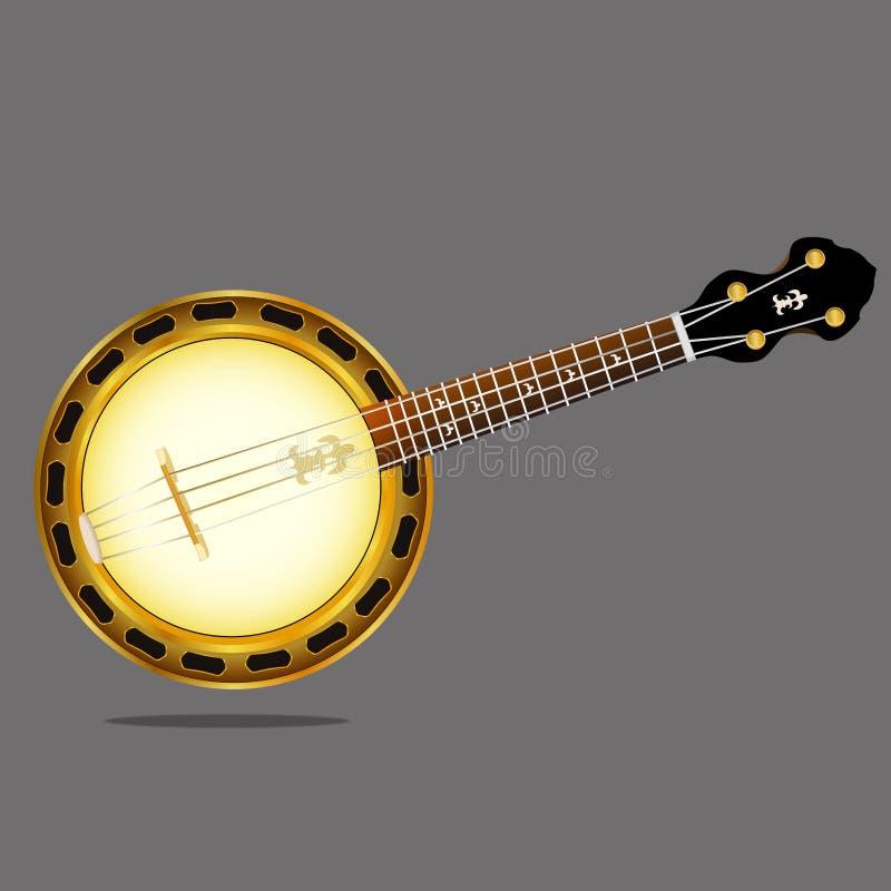 一架乐器班卓琵琶的传染媒介图象 皇族释放例证