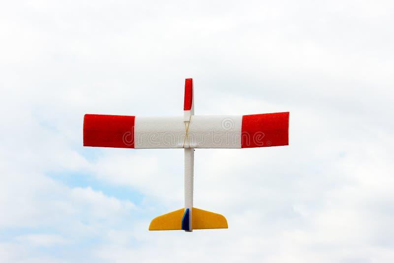 一架小型飞机的模型 免版税库存照片