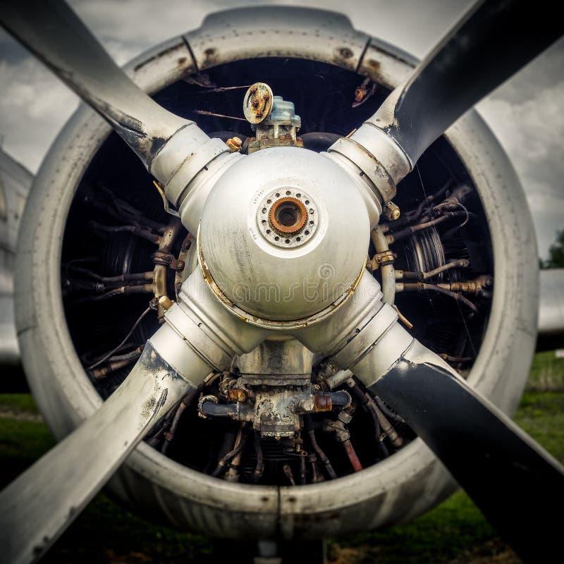 一架老飞机的推进器 免版税库存照片
