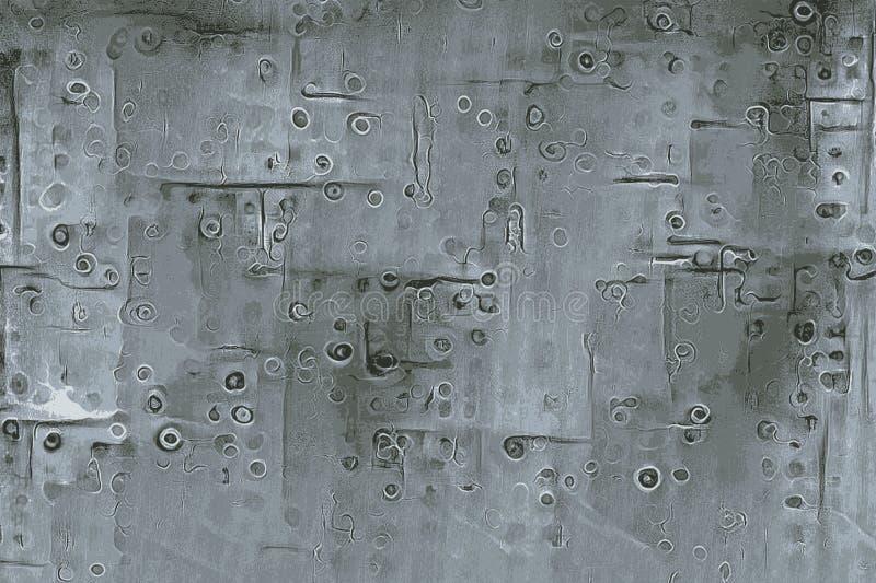 一架飞机的纹理有铆钉和螺丝和金属板的 图库摄影