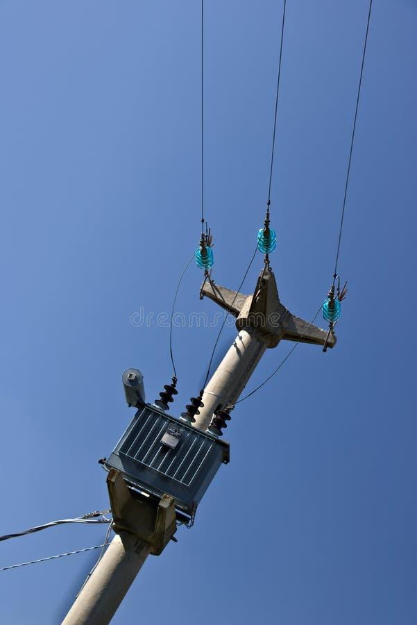 一根电力杆 库存照片