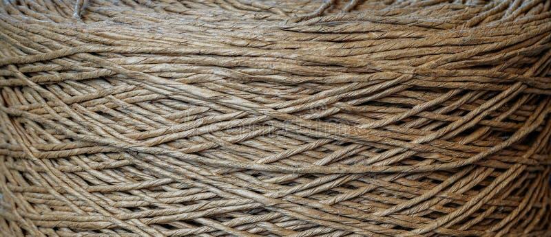 一根老滚动的棉花绳子 免版税库存照片