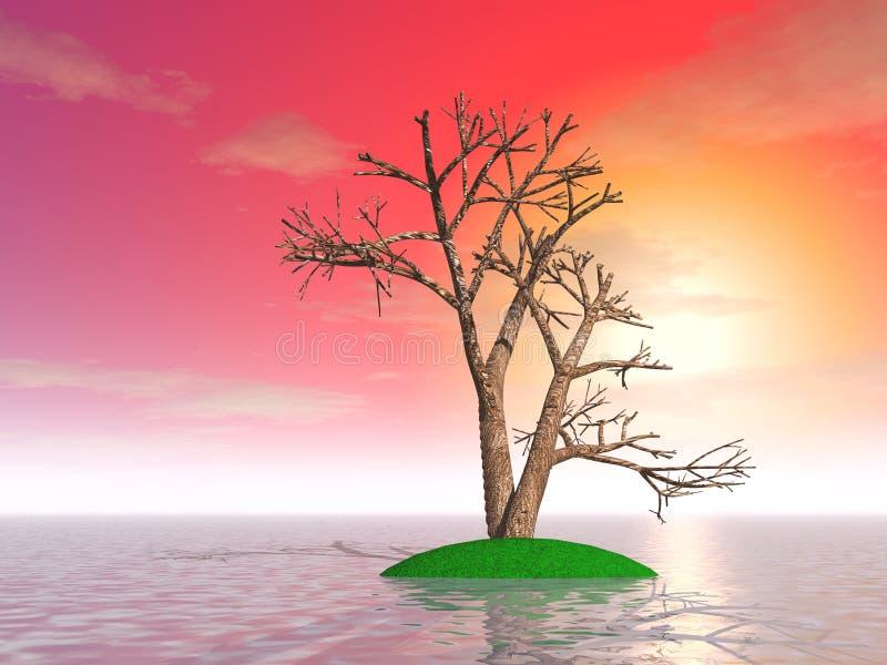 一棵神奇树 皇族释放例证