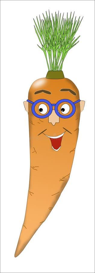 一棵红萝卜的乐趣图片与面部特点的 库存照片