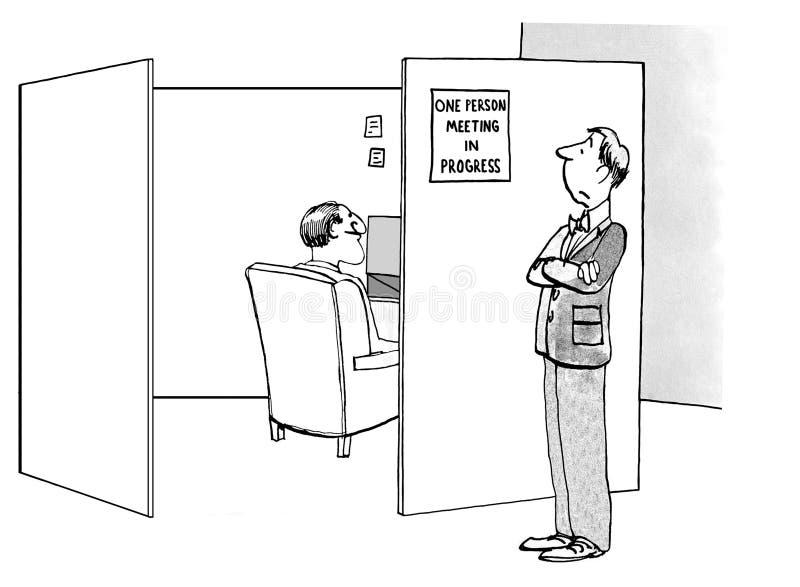 一次人会议 库存例证