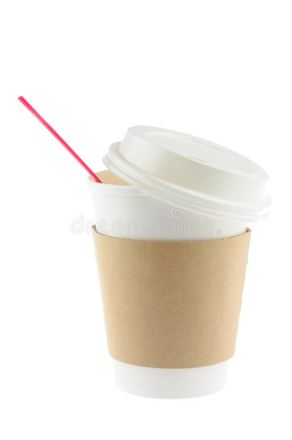 一次性咖啡杯 库存图片