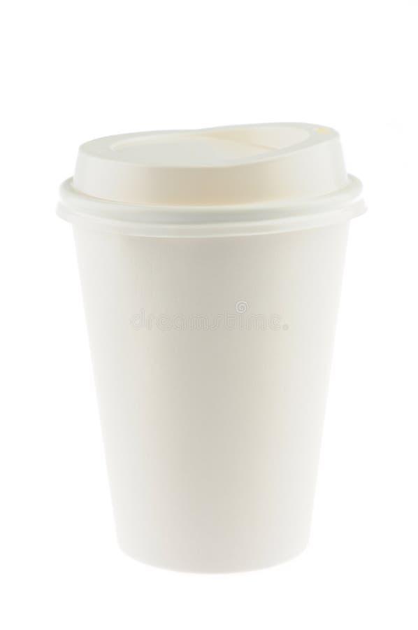 一次性的咖啡杯 免版税库存图片
