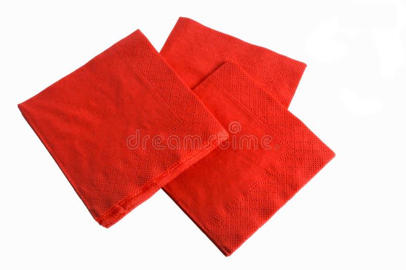 一次性餐巾纸张 免版税库存照片