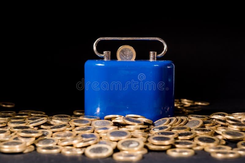一欧元硬币 免版税库存照片