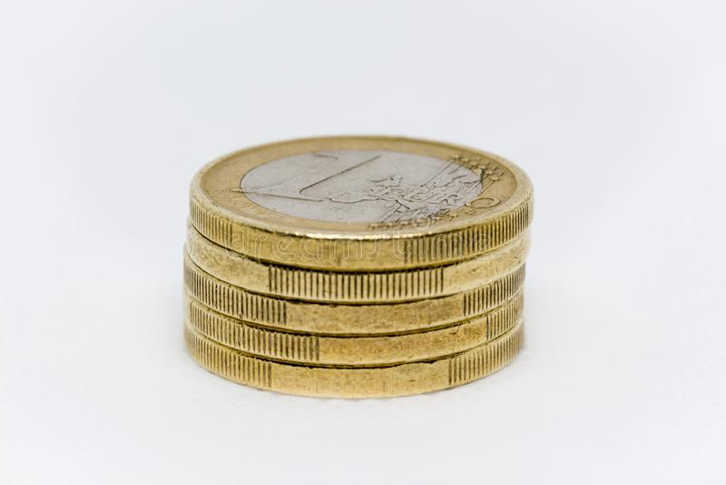 一欧元铸造堆 库存图片