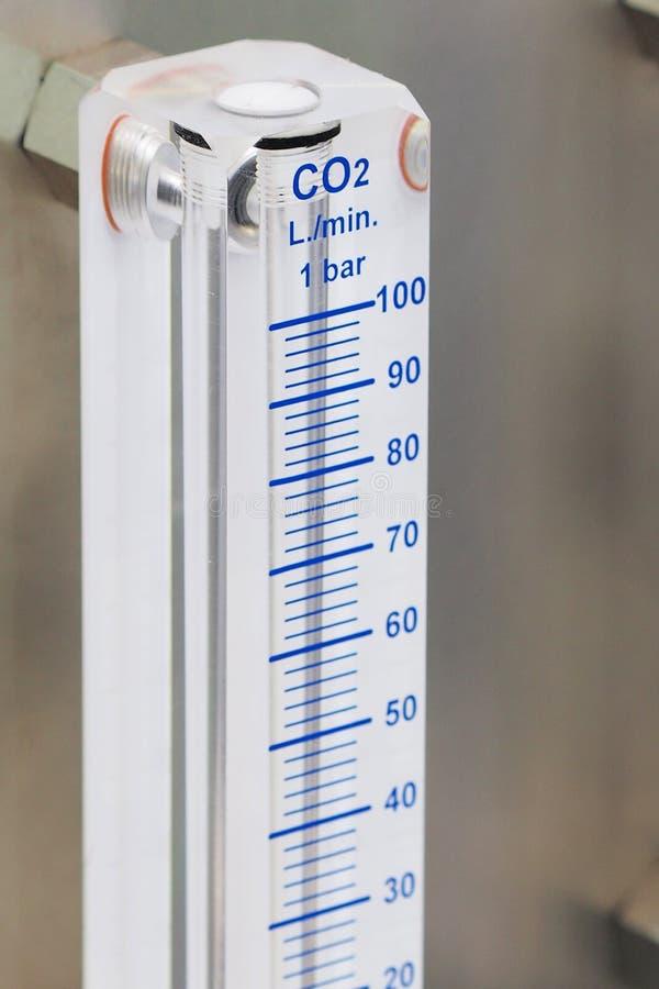 一氧化碳水平米 免版税库存照片