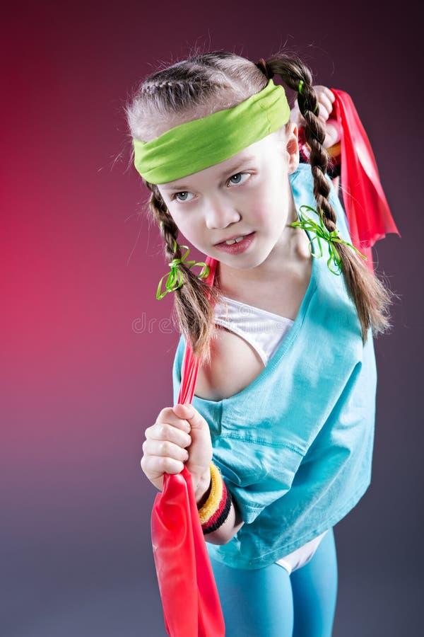 一点健身女孩 免版税图库摄影