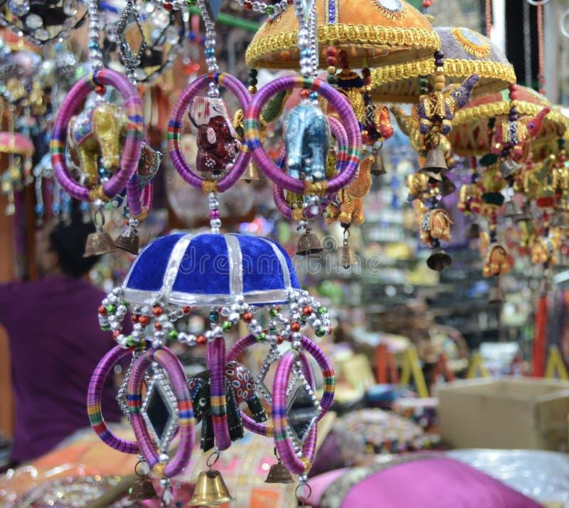 一点印度工艺市场在新加坡 图库摄影