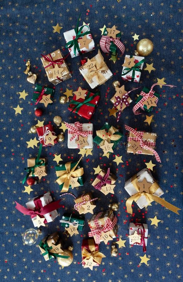 一点圣诞节的欢乐礼物 库存照片