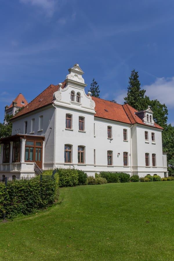 一点城堡在奥里希县的历史中心 免版税图库摄影