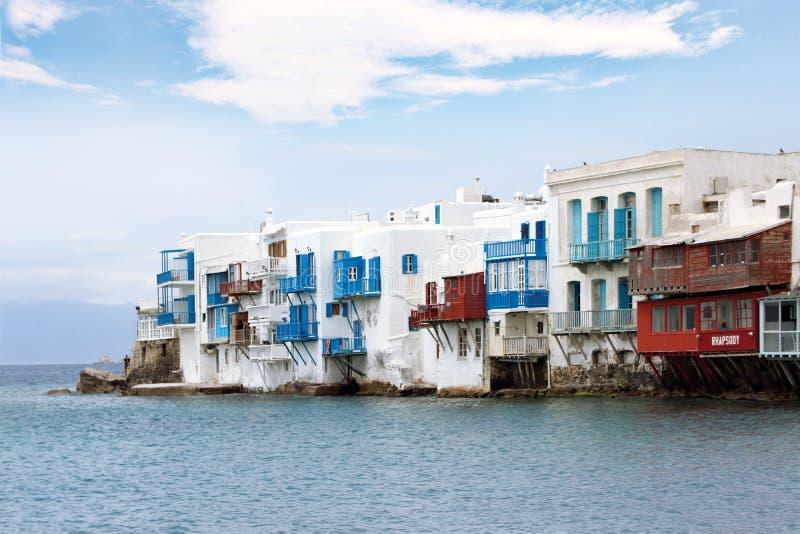 一点威尼斯米科诺斯岛海岛 免版税库存照片