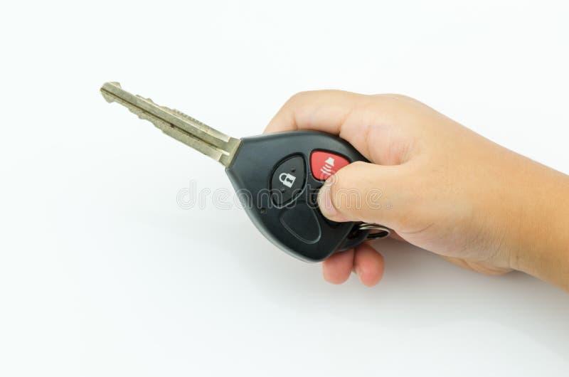 一点手新闻在遥控关键汽车开锁 免版税库存照片
