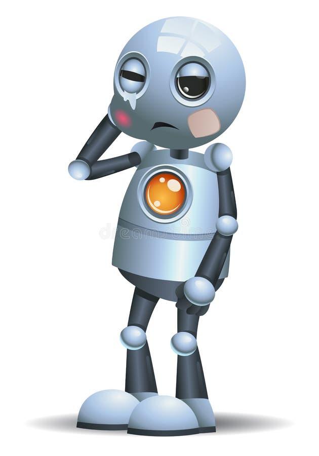 一点机器人得到了牙疼痛 向量例证