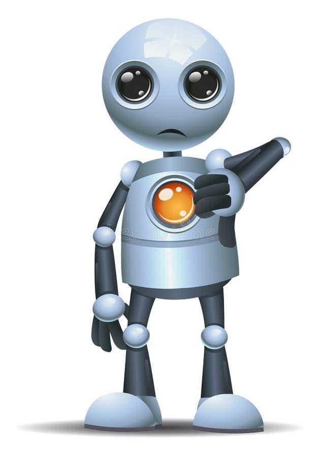 一点机器人拇指下来在被隔绝的白色背景 皇族释放例证