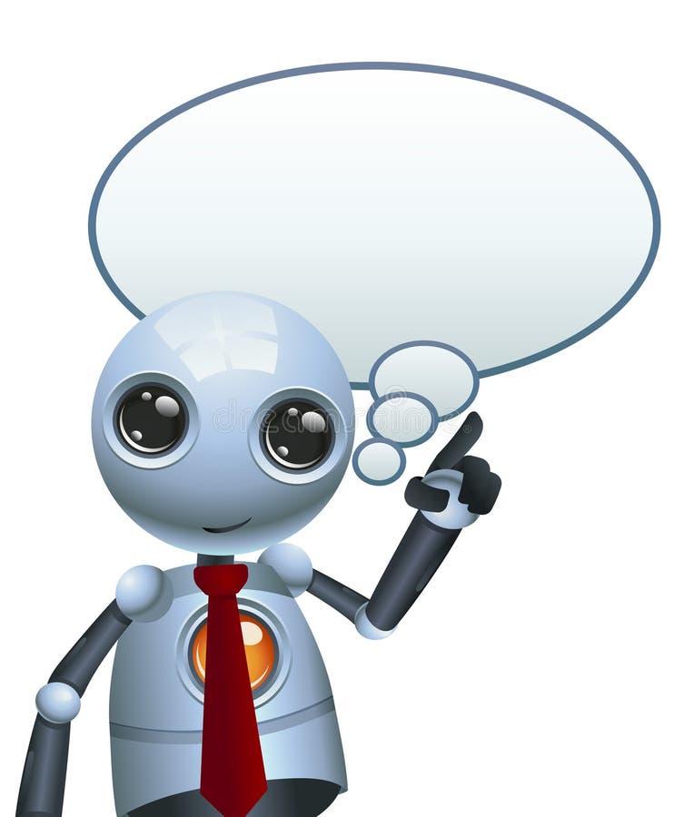 一点机器人设计想法泡影 皇族释放例证