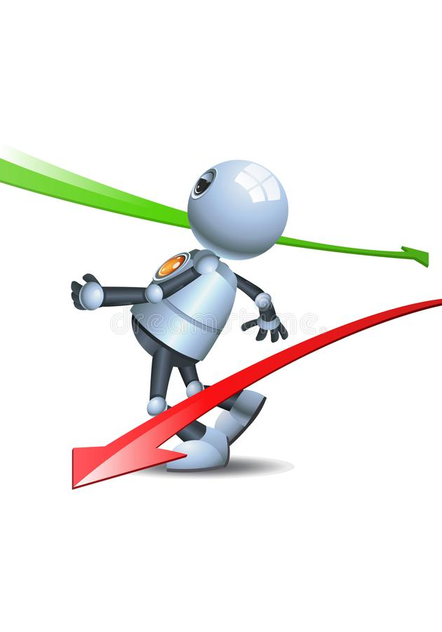 一点机器人逃避箭头标志 皇族释放例证