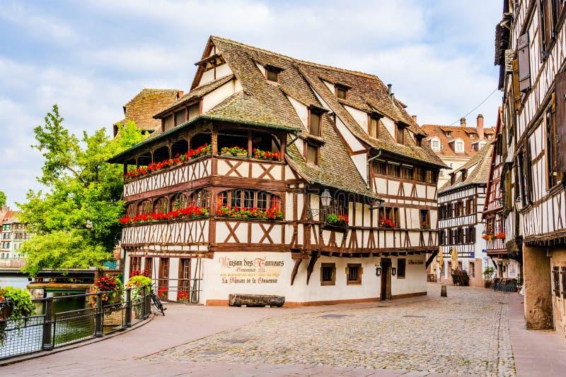 一点法国,史特拉斯堡,阿尔萨斯,法国 免版税库存照片