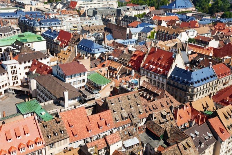一点法国quartier从史特拉斯堡法国上 免版税库存照片