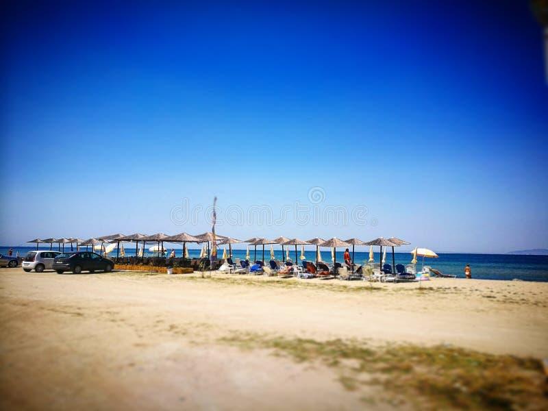一点海滩在Agia Triada 图库摄影