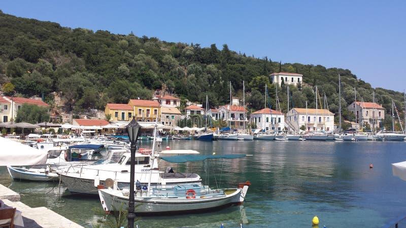 一点港口在希腊 图库摄影